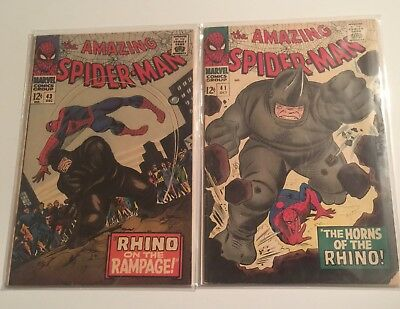 The Amazing Spiderman 41 And 43 1st And 2nd App Of Rhino