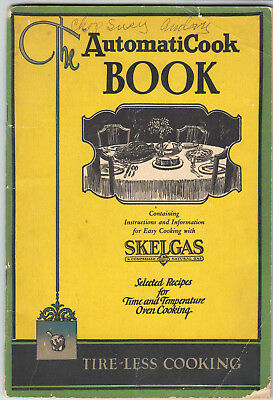 AutomatiCook BOOK adv. SKELGAS of Kansas City & Robertshaw Thermostat Co. 1927
