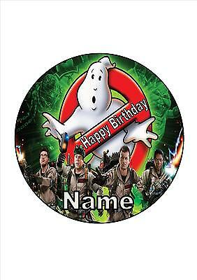 Ghostbusters Edible Round Wafer Cake Topper