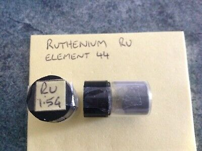 1.5 Gram 99.95% Ruthenium Ru Powder Sample