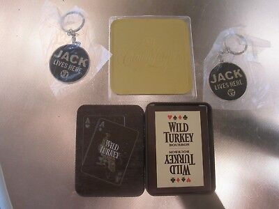 Wild Turkey Tin Of Playing Cards Plus Jack Daniels & Crown Lager Items