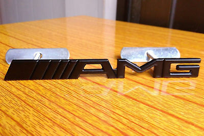 3D Metal Chrome AMG Grill Badge Front Emblem For CLK CLS SLK C E S CL SL ML CAR