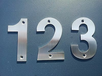 ** 2mm THICK *** 100mm STAINLESS STEEL HOUSE NUMBER 0-9 A B / LETTERBOX HOME