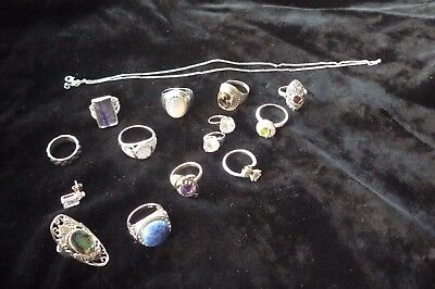 Variety Of Solid 925 Sterling Silver Items 71.00 Grams. New & Vintage