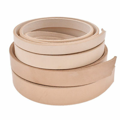 1pc DIY Blank Veg Tanned Leather Strip Strap Belt  Handmade 100-130cm Pick Width