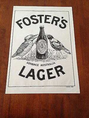 Fosters Lager Beer Poster