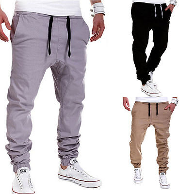 Mens Casual Trousers Loose Harem Pants Slacks Sweatpants Dri-fit Fitness Jogging