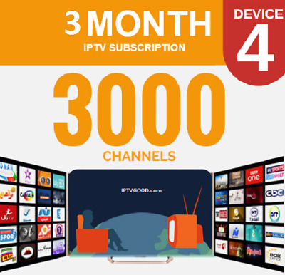 Perfect IPTV 3000+ channels + VODs stable 3 months subscription all devices