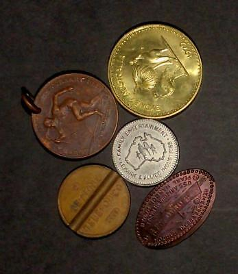 Small selection of tokens and medals
