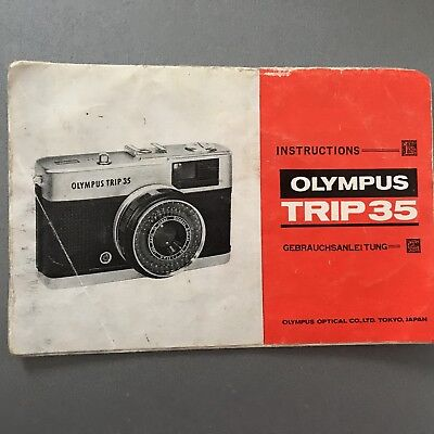 Olympus Trip 35 Camera Instruction Foldout Booklet