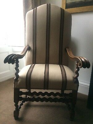Charles II Walnut Armchair. Late 17th Century. Beatrix Potter connection.