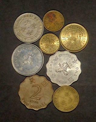 Selection of coins from Hong Kong (30g)