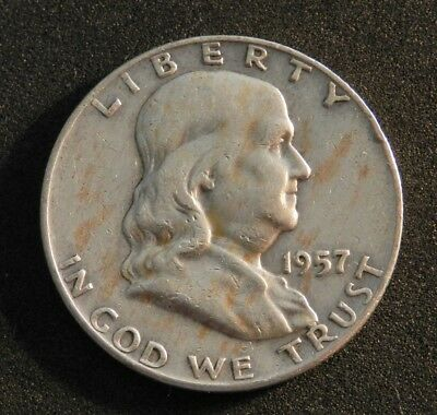1957D Usa Franklin Half Dollar In Excellent Condition