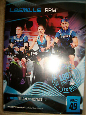 Les Mills Rpm 49 Dvd Cd Notes 100% Cover Music Indoor Cycling Spinning Exercise