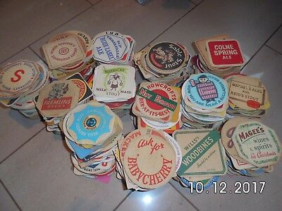 Huge box containing over 700 vintage Beer Mats from the 1950's and 60's