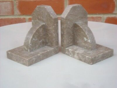 A beautiful Pair of Art Deco Vintage French Marble Book Ends