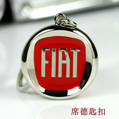 Metal Key Chain Car Logo Keyring Pendant Ring Accessories Keychain Fiat  ##006