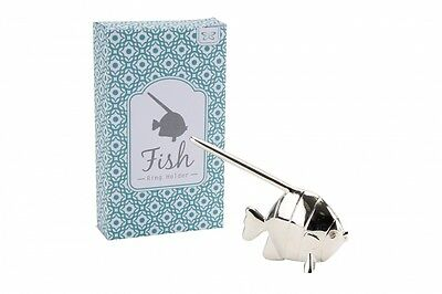 Silver Fish Ring Holder Ring Stand Ring Display Jewellery Stand