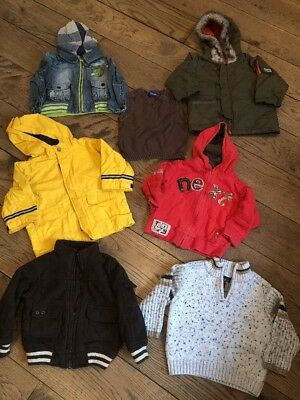 7x Items Boys 18-24 Months / 1-1.5 Years Old Coats Jackets Jumper NEXT GAP Baby
