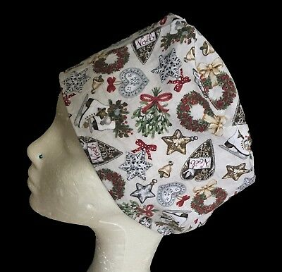 Noel Noel Christmas Operating Theatre Scrub Caps/Hats - nurse, ODP, surgeon etc