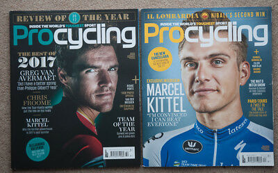 Procycling magazine two issues: December 2017 & Review of the Year (236 & 237)