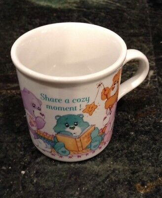 Vintage Care Bear Coffee Cup Mug - Share a Cozy Moment -American Greetings 1985