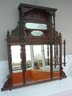 Victorian or Edwardian Mirrored Overmantle