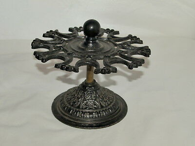 Antique Cast Iron And Brass Rubber Stamp Stand