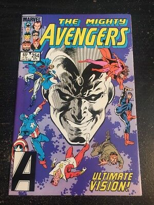 "Avengers#254 Incredible Condition 9.4(1985)""Ultimate Vision"""
