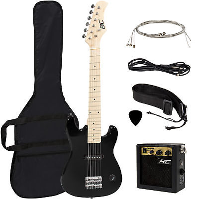 "Best Choice Products 30"" Kids Electric Guitar Kit w/ 5W Amp (Black)"