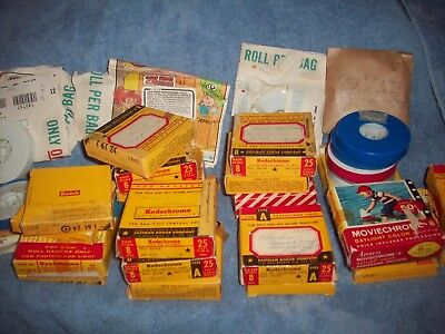 Vintage Large LOT 8 MM Home Movies Disney World Liberace show Franklin Fire co