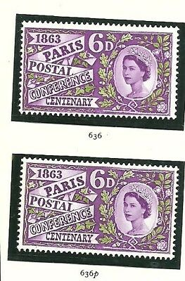 Qe11 1963 Paris Conference  Ordinary And Phosphor Mint Not Hinged Set