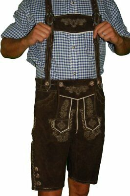 Tracht German Lederhosen Outfit Costumes BERGKRISTALL - 38 - Dark brown