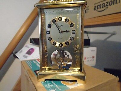 VINTAGE SCHATZ & SOHNE  8 DAY BRASS CARRIAGE CLOCK sold as repair or for spares