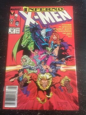 "Uncanny X-men#240 Awesome Condition 8.0(1988)""Inferno"" Silvestri Art, Wow!!"