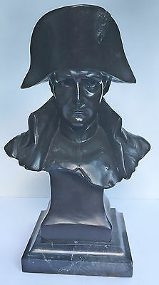 Large Patinated Bronze Bust of French Emperor Napoleon Bonaparte - After Lecomte