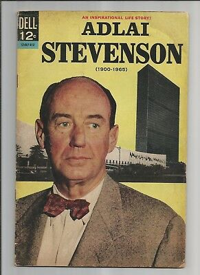 Adlai Stevenson #12-007-612  Vg+  Ow/white Pages Silver Age Dell Comics 1965