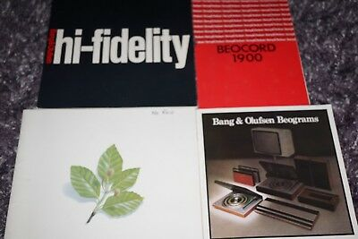 Bang & Olufsen 78/79 Catalogues Beosystems A Collection Of Assorted Brochures