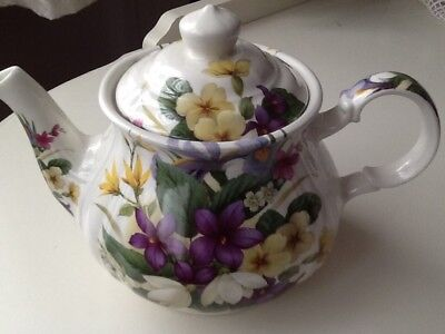 Sadler Tea Pot Summer Flowers Vintage