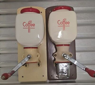 De Ve Wall Mounted Coffee Grinder x 2. Vintage Retro Item