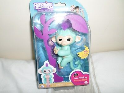 Genuine WowWee Monkey Fingerlings from Argos Turquoise Zoe 1st Class Signed For