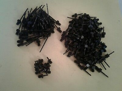 """Lot of 150 1/4""""-28   NEW THREADED DRILL BITS AIRCRAFT TOOLS 2"""" 1"""" STUBBY #40"""