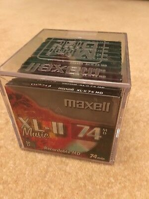 Ten Maxell XL-II 74 Mini Discs - Sealed, Brand New