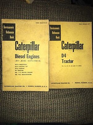 """Caterpillar Diesel Engines Servicemens Reference Book 4.5"""" 4 Cylinder D4 Tractor"""