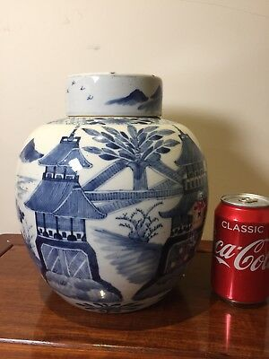 antique chinese Blue And White Ginger Jar