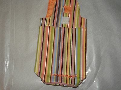 Longaberger Water Bottle Holder New, No tag, Striped