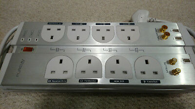 Belkin F9G823 8 socket PureAV Isolator Home Theater Surge Protector with 3m lead