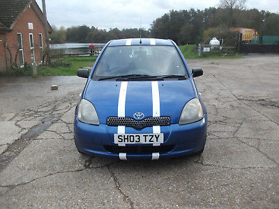 2003 Toyota Yaris 1.0 Vvti Colour Collection In Blue With Mot To May 2018!