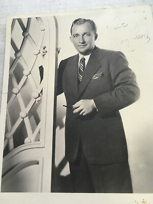 Bing Crosby inscribed and signed vintage matte 8x10 photograph