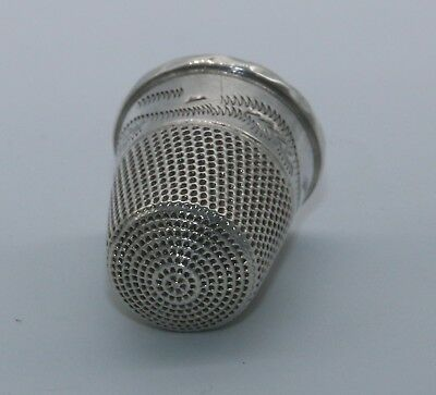Sterling Silver Thimble - Size 10 - Birmingham 1902 - John Troup And Son